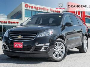 2015 CHEVROLET TRAVERSE 3.60 LT 1LT BACK UP CAM HEATED SEAT REAR TV - ORANGEVILLE