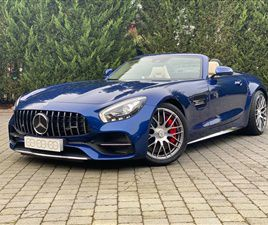 USED 2018 MERCEDES-BENZ AMG AMG GT C CONVERTIBLE 6,100 MILES IN BRILLIANT BLUE FOR SALE |