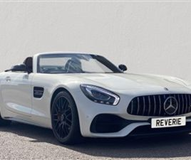 USED 2018 MERCEDES-BENZ GT 4.0 AMG GT C 2D 550 BHP CONVERTIBLE 12,750 MILES IN WHITE FOR S