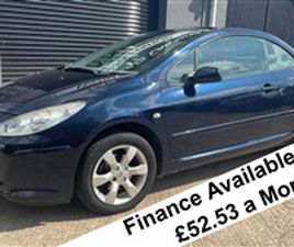 USED 2008 PEUGEOT 307 S COUPE CABRIOLET 1.6 NOT SPECIFIED 35,243 MILES IN BLUE FOR SALE  