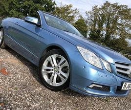 MERCEDES-BENZ E CLASS 3.5 E350 CGI BLUEEFFICIENCY SE CABRIOLET G-TRONIC 2DRONE LADY OWNER*