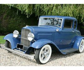1932 FORD MODEL B 5 WINDOW COUPE V8 HOT ROD. GENUINE HENRY FORD STEEL.