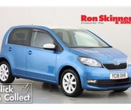 USED 2018 SKODA CITIGO 1.0 COLOUR EDITION MPI 5D 59 BHP HATCHBACK 29,438 MILES IN BLUE FOR