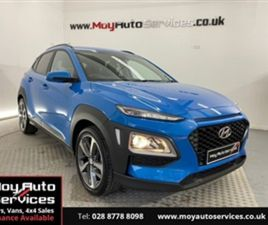 USED 2020 HYUNDAI KONA 1.0 T-GDI PLAY 5D 118 BHP HATCHBACK 12,030 MILES IN BLUE FOR SALE |
