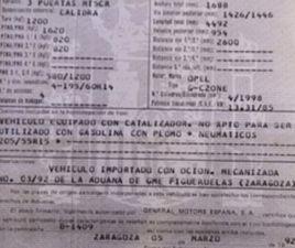 OPEL CALIBRA 2.0 AU00F1O 1992 - CALIBRA-A. 2.0