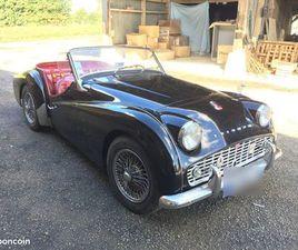 TRIUMPH TR3 1958 NOIRE SELLERIE ROUGE