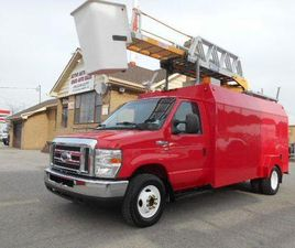 USED 2010 FORD ECONOLINE E450 DUALLY BUCKET TRUCK RH38D 38FT INSULATED