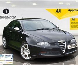 USED 2009 ALFA ROMEO GT 2.0 JTS BLACKLINE 3D 165 BHP COUPE 74,000 MILES IN BLACK FOR SALE