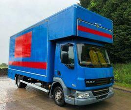 2012 DAF LF 45.160 EEV 20FT DROPWELL LUTON REMOVAL BOX, 140KMS, A/C