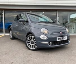 USED 2020 FIAT 500 STAR 1.2 69HP (S7 EU6D) HATCHBACK 4,850 MILES IN TECH HOUSE GREY FOR SA