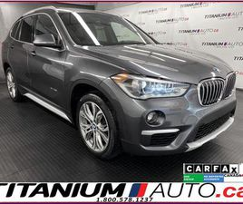 USED 2017 BMW X1 GPS+CAMERA+HUD+PANO ROOF+POWER TAIL GATE+AWD+XM