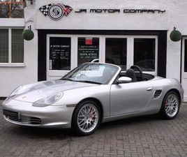 PORSCHE BOXSTER 24V 3.2 S MANUAL ARCTIC SILVER HUGE SPEC ONLY 77000 MILES! 2003