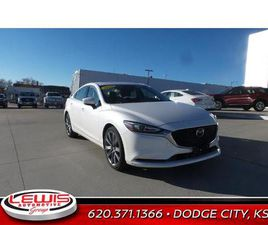 WHITE COLOR 2020 MAZDA MAZDA6 TOURING FOR SALE IN DODGE CITY, KS 67801. VIN IS JM1GL1VM2L1