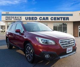 RED COLOR 2016 SUBARU OUTBACK 2.5I LIMITED FOR SALE IN FREDERICK, MD 21702. VIN IS 4S4BSAL