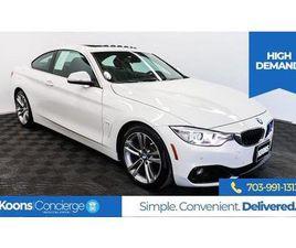 WHITE COLOR 2016 BMW 4 SERIES 428I FOR SALE IN STERLING, VA 20164. VIN IS WBA3N7C55GK22633