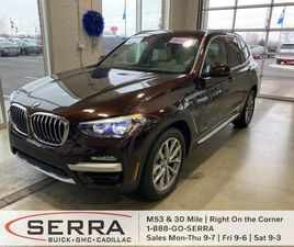 BROWN COLOR 2018 BMW X3 XDRIVE30I FOR SALE IN WASHINGTON, MI 48095. VIN IS 5UXTR9C59JLD572