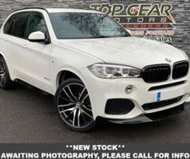 USED 2015 BMW X5 3.0 255 BHP XDRIVE30D M SPORT AUTO ESTATE 57,000 MILES IN WHITE FOR SALE