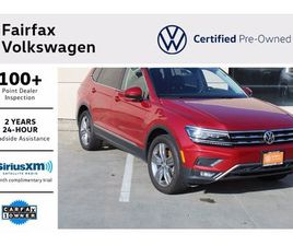 RED COLOR 2018 VOLKSWAGEN TIGUAN SEL PREMIUM FOR SALE IN FAIRFAX, VA 22030. VIN IS 3VV5B7A