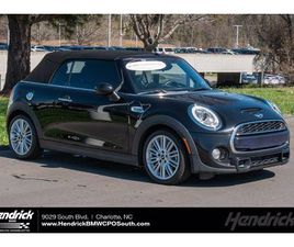 BLACK COLOR 2017 MINI COOPER CONVERTIBLE S FOR SALE IN CHARLOTTE, NC 28273. VIN IS WMWWG9C