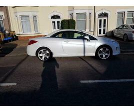 PEUGEOT 308 PEARL WHITE CONVERTIBLE FALL LEATHER INTERIOR
