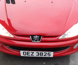 RED PEUGEOT 206 2007 1400CC ⭐