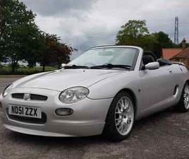 2001 MG MGF FREESTYLE 1.8I IN SILVER WITH FULL BLACK LEATHER, EX TROPHY CARS CAR