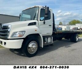 2013 HINO 268 ROLLBACK FLAT BED TOW TRUCK