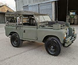 LAND ROVER SERIES 3 88 INCH SOFT TOP 1975 PETROL BONNIE STOCK 346