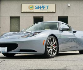 USED 2012 LOTUS EVORA 2+2 IPS AUTOMATIC, REAR CAMERA, NAV, LOCALLY OWNED