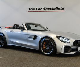 MERCEDES-BENZ AMG GT R ROADSTER V8, ONLY 60 MILES! IRIDIUM SILVER, AIRSCARF, AMG HIGH PERF