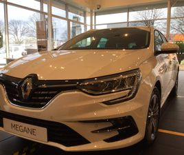 WHITE RENAULT MEGANE 1.6 E-TECH 9.8KWH ICONIC SPORT TOURER AUTO (S/S) 5DR FOR SALE FOR £29