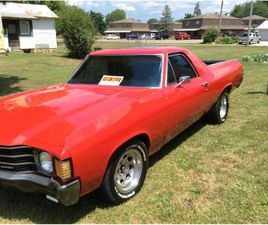 FOR SALE: 1972 CHEVROLET EL CAMINO IN CADILLAC, MICHIGAN
