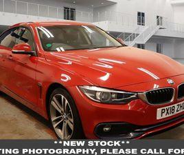 2018 BMW 4 SERIES 2.0TD 420D SPORT (188BHP) (S/S) GRAN COUPE 5D AUTO - £17,550