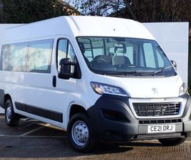 NEARLY NEW 2021 (21) PEUGEOT BOXER 2.2 BLUEHDI H2 PROFESSIONAL CREW VAN 140PS IN GLASGOW