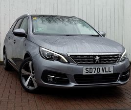 NEARLY NEW 2020 (70) PEUGEOT 308 1.2 PURETECH 130 TECH EDITION 5DR IN STIRLING
