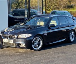 USED 2014 BMW 5 SERIES M SPORT AUTO ESTATE 81,000 MILES IN BLACK FOR SALE | CARSITE