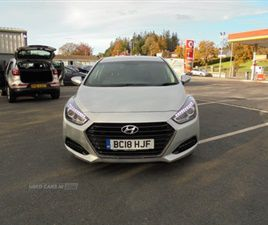 USED 2018 HYUNDAI I40 SE NAV CRDI BLUE DRIV SALOON 28,000 MILES IN SILVER FOR SALE | CARSI