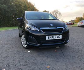USED 2018 PEUGEOT 108 1.0 ACTIVE 5D 68 BHP HATCHBACK 31,741 MILES IN BLACK FOR SALE | CARS