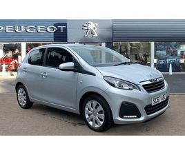 USED 2018 PEUGEOT 108 1.0 ACTIVE 5DR HATCHBACK 22,189 MILES IN SILVER FOR SALE | CARSITE