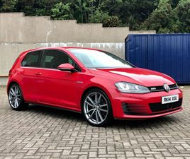USED 2014 VOLKSWAGEN GOLF 2.0 GTD 3D 182 BHP HATCHBACK 81,000 MILES IN RED FOR SALE   CARS