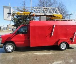 USED 2009 FORD E450 13 FT SERVICE BOX PLUS LADDER BUCKET