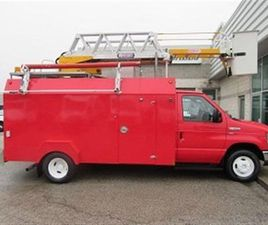 USED 2010 FORD E450 GAS 13 FT SERVICE BOX PLUS LADDER BUCKET