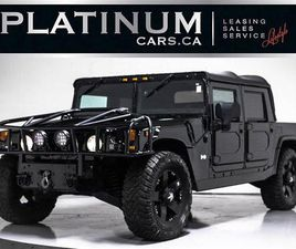 USED 2004 HUMMER H1 LEATHER INTERIOR, OPEN TOP, DVD ENTERTAIN