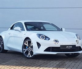 BRAND NEW ALPINE A110 1.8L TURBO PURE 2DR DCT