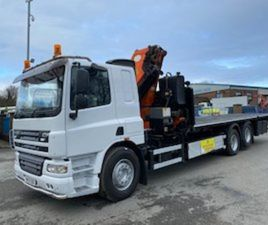 09 DAF CF 75 310 6X2 FLAT WITH 34TM CRANE FOR SALE IN ARMAGH FOR €1 ON DONEDEAL