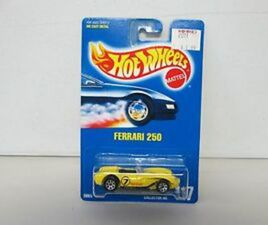 1991 HOT WHEELS FERRARI 250 NO 117 BLACK PIPES 7 SPK VARIATION