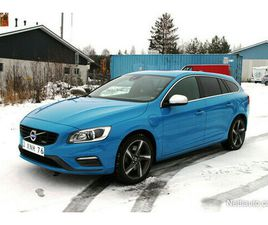 VOLVO V60 D6 AWD R-DESIGN PLUG IN HYBRID AUT POLESTAR BLUE! VAIHTO JA RAHOITUS! FARMARI 20