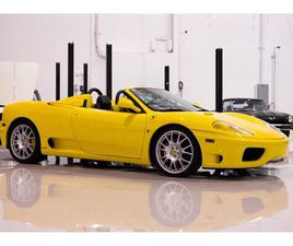 FOR SALE: 2004 FERRARI 360 SPIDER IN CHARLOTTE, NORTH CAROLINA