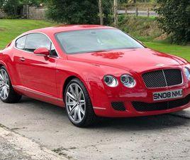 2008 BENTLEY CONTINENTAL 6.0 GT SPEED 2D AUTO 603 BHP