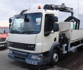 DAF LF 45 2009 DROPSIDE WITH HIAB CRANE , B/GRAB FOR SALE IN DOWN FOR £12,750 ON DONEDEAL